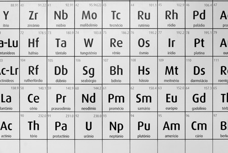 Black And White Periodic Table Of Chemical Elements The Name