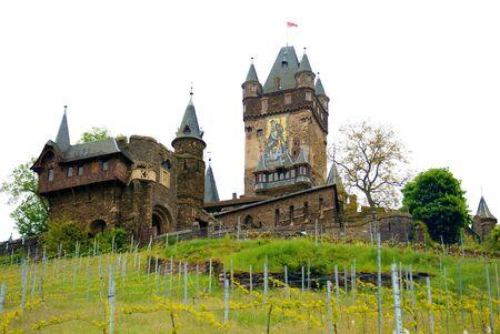 Cochem castle and vineyards, Germany. photo