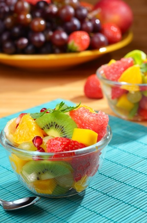 Fruit mix salad on the table Stock Photo - 11568248