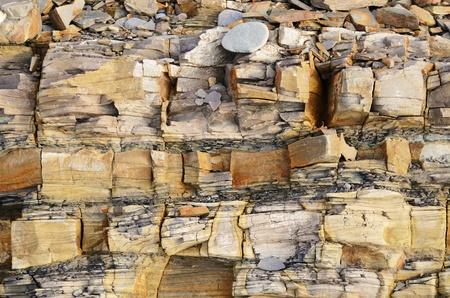 rock strata: Sedimentary stone texture closeup