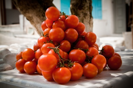 A heap of cherry tomatoes on the street  Stock Photo - 13797053