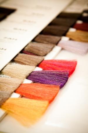 Stylist: En la peluquería Foto de archivo