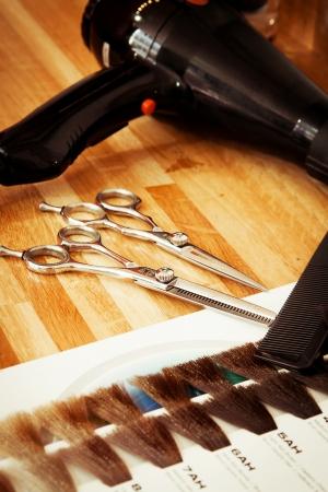 tinte cabello: En la peluquería Foto de archivo