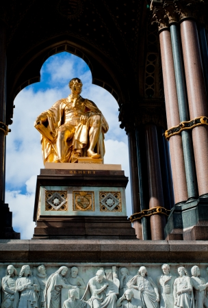 Albert Memorial in Hyde Park, Kensington, London, detail  Prince photo