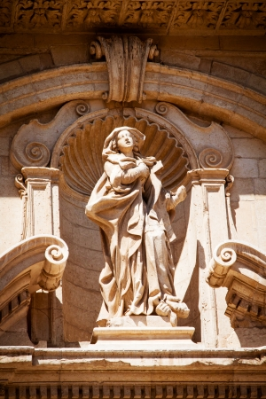 eponymous: The statue of St Irene by Mauro Manieri  1717  on the facade of the eponymous church in Lecce, Puglia