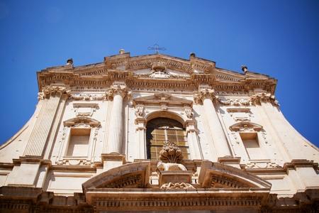 martyr: Facade of St Irene s church, Lecce, Italy Stock Photo