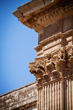 acanthus: Detail of the decoration on the Corinthian columns of St Irene