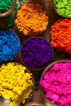 cerulean: Colorful, finely powdered Indian pigments.