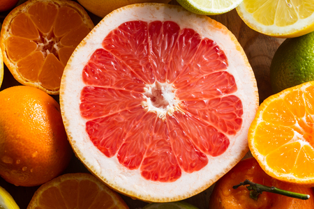 zesty: Pink grapefruit and other citrus fruit for a healthy breakfast.