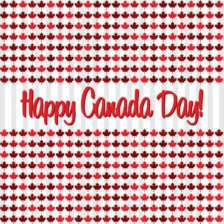 Happy Canada Day card in vector format. Vector