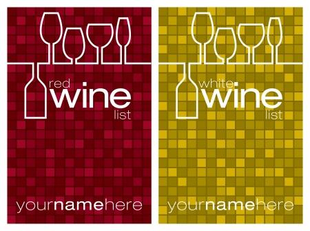 sektglas: Weinkarte im Format Illustration