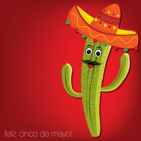 mexican fiesta: card Illustration