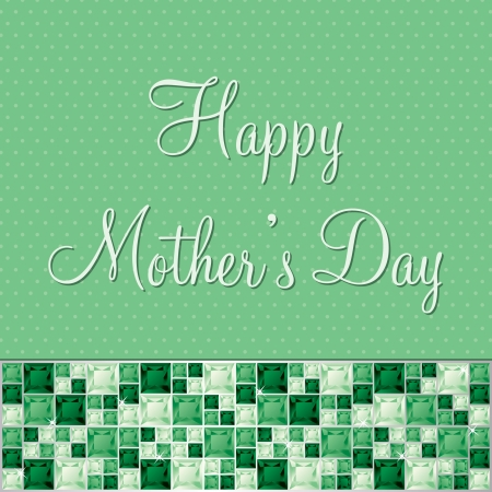 tsavorite: Happy Mother s Day gem card