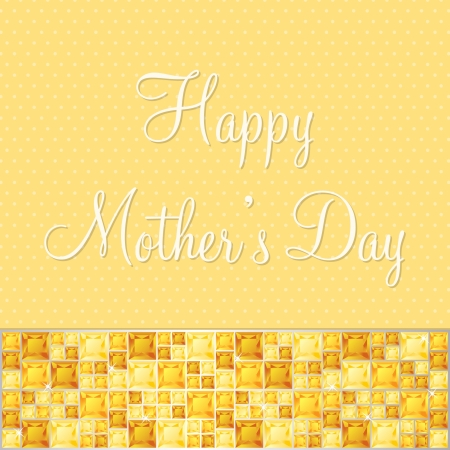 Happy Mother s Day gem card Vector