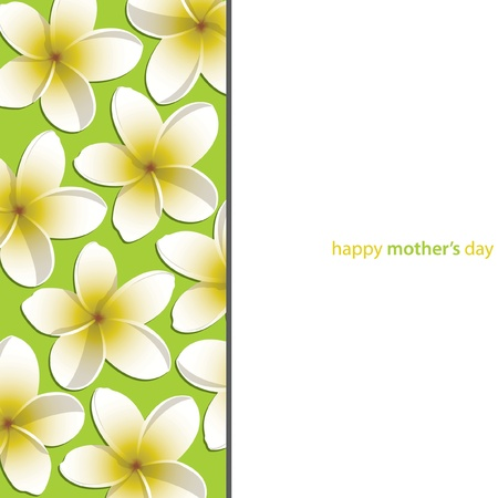 lime blossom: Happy Mother s Day frangible card Illustration