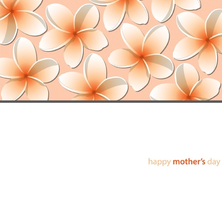 Happy Mother s Day frangipani card in vector format  Vector