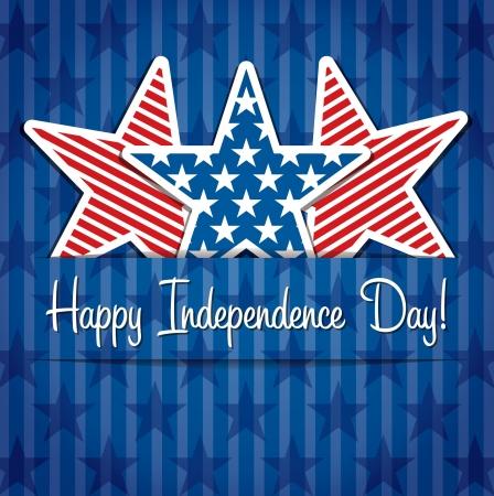 independencia: Feliz D�a de la Independencia Tarjeta estrellas