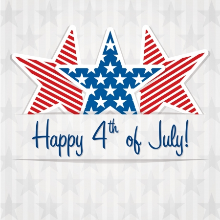 4th: Happy 4th of July sticker cards