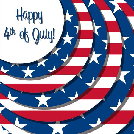 4th of July card in vector format Stock Vector - 19398610