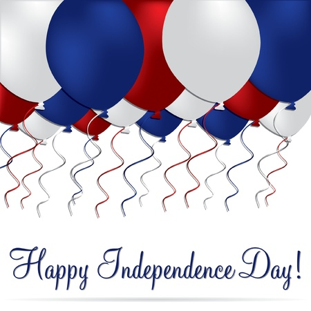 Happy independence Day balloon card Vector