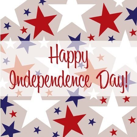 Independence Day greeting card in vector format  Vector