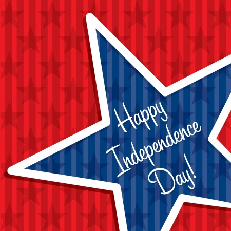 Star cut out Happy Independence Day card Vector