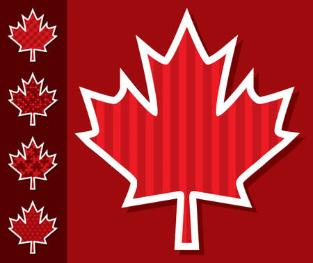 first day: Maple leaf stickers Illustration