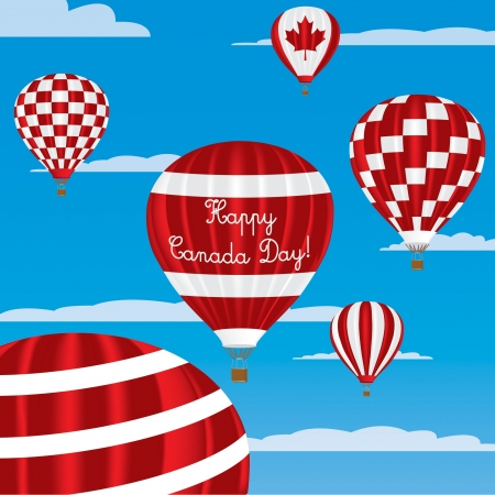 Canada Day greeting card Vector