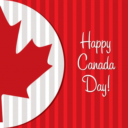 Happy Canada Day maple leaf card in vector format  Vector