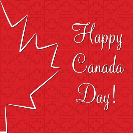 first day: Maple leaf  Happy Canada Day  card