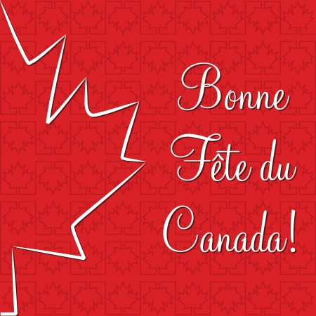 Maple leaf  Happy Canada Day  card Vector
