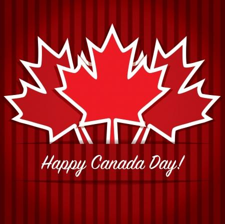 Carte Happy Canada Day Vecteurs