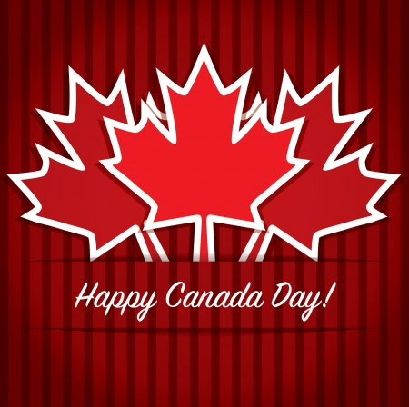 canadian flag: Happy Canada Day card