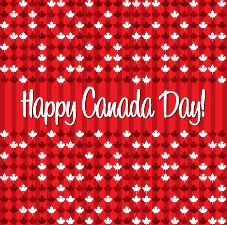 Happy Canada Day card in vector format  Vector