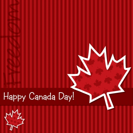 canadian state flag:  Happy Canada Day  sticker card Illustration