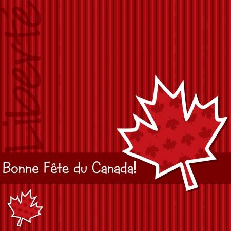 Happy Canada Day  sticker card Vector