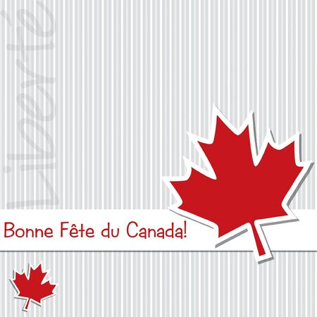 canada flag:  Happy Canada Day  sticker card Illustration