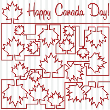 canada day: Maple leaf maze Canada Day card