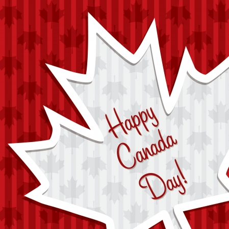 Happy Canada Day  sticker card Vector