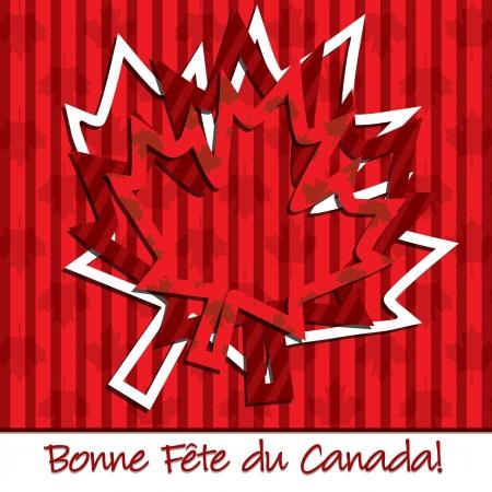 Happy Canada Day  hollow sticker card Vector