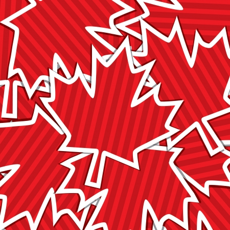 Sticker scatter Canada Day card Vector