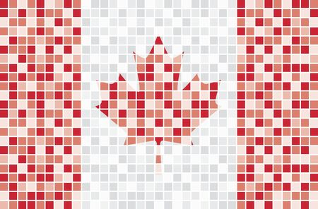 Mosaic Canadian flag Vector