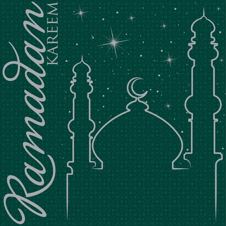 Hand drawn Ramadan Kareem  Generous Ramadan  greeting card  Vector