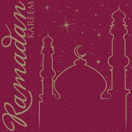 Hand drawn Ramadan Kareem  Generous Ramadan  greeting card  Vector