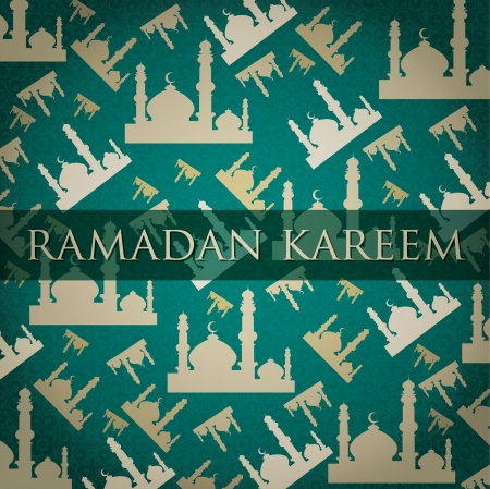 Gold Mosque  Ramadan Kareem   Generous Ramadan  scatter card Stock Vector - 19401304