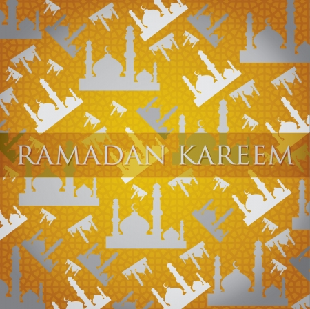 scatter: Silver Mosque  Ramadan Kareem   Generous Ramadan  scatter card Illustration
