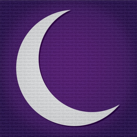 Silver crescent moon  Ramadan Kareem   Generous Ramadan  text pattern card Stock Vector - 19401306