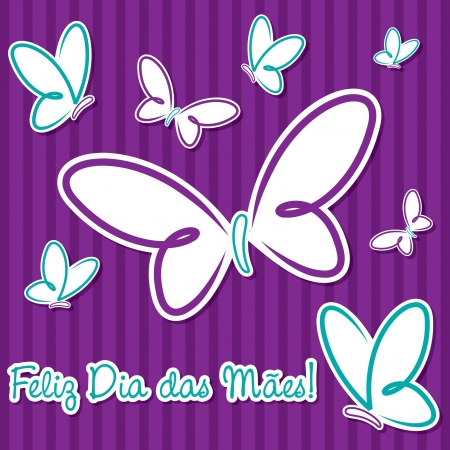 Butterfly  Happy Mother s Day  sticker card