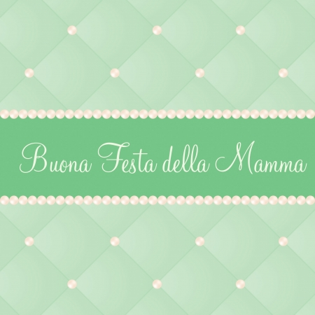pale cream: Italian mother s day card in vector format  Illustration