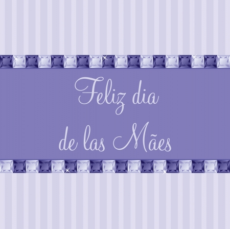 Portuguese two toned Mother s Day card in vector format